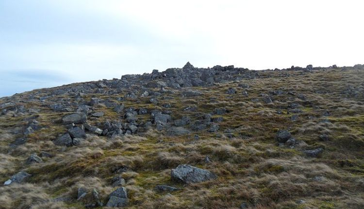 Under the cairn on Carrs Top