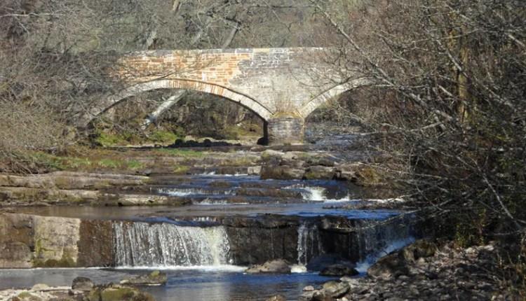 Waterfall at West Blackdene on River Wear