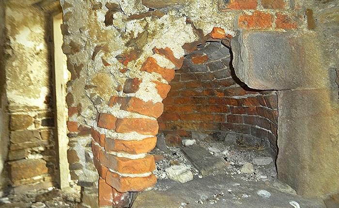 Interior of bread oven