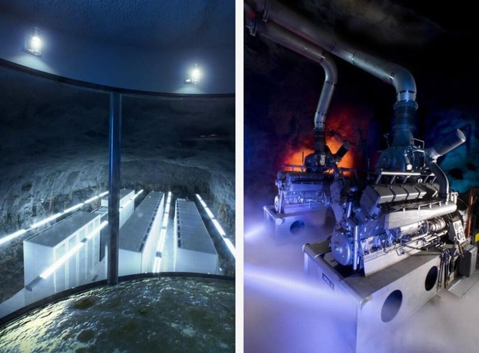 Pionen Nuclear Bunker Data Centre - Moonraker Sub Engine