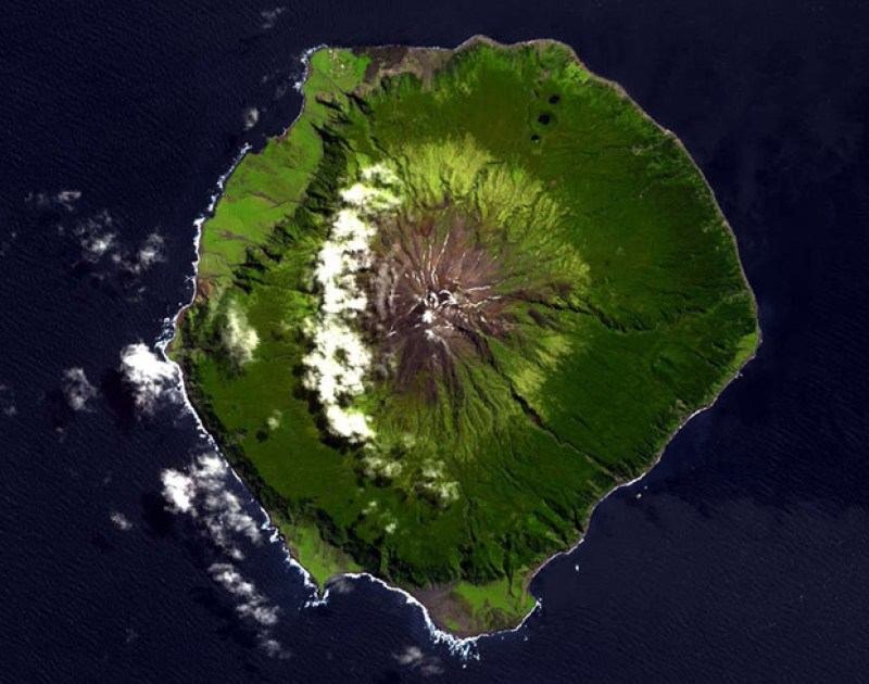 Tristan da Cunha Top Down View