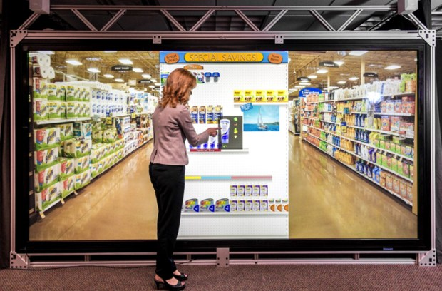 Virtual Wall, a full scale, touch-interactive shopping experience from Full Scale Virtual Research, LLC.