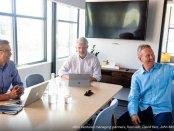 llos Ventures managing partners, from left, David Kerr, John McIlwraith and Don Aquilano.