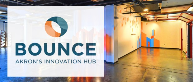 bounce innovation hub logo and space