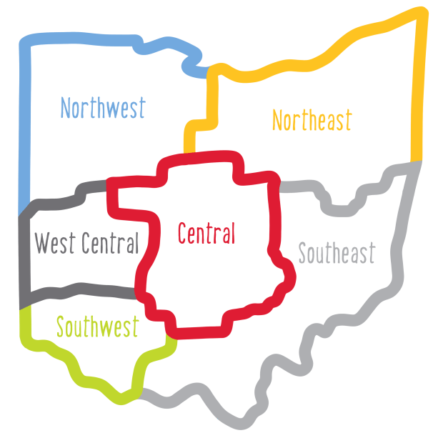 TechOhio regions map