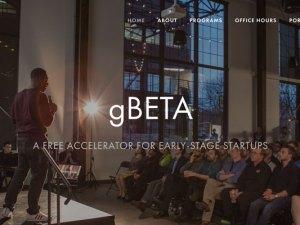 gBETA business accelerator program website homepage