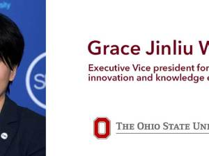 """""""Grace"""" Jinliu Wang -executive vice president for research, innovation and knowledge enterprise"""