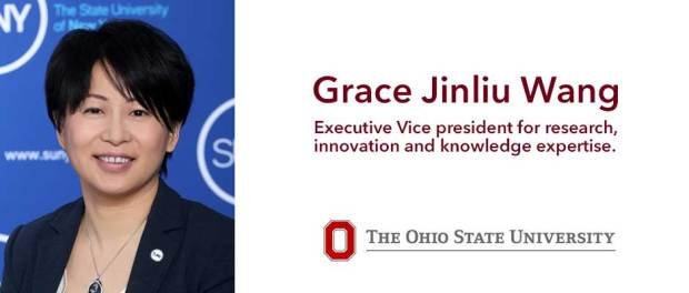 """Grace"" Jinliu Wang -executive vice president for research, innovation and knowledge enterprise"
