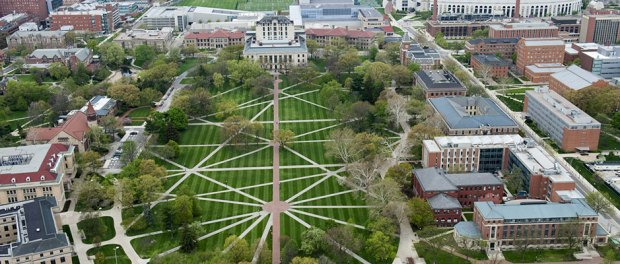 The Ohio State University Oval Aerial Shot