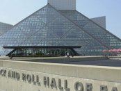 Expanded Rock Hall exhibit - view of outside building