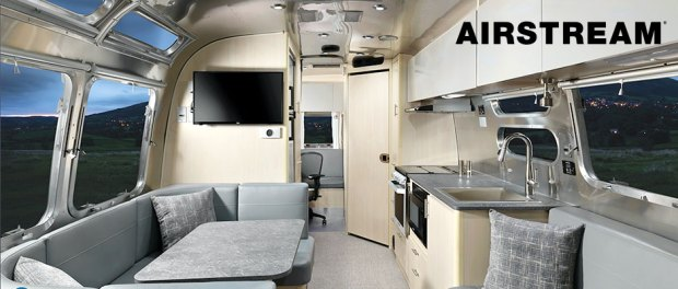 Airstream with office layout