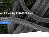 screenshot of CHAMPtitles.com