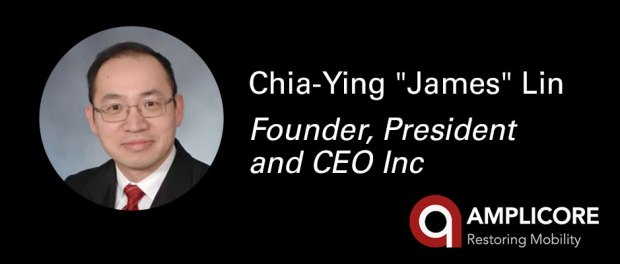 C. James Lin, PhD Founder President & Chief Executive Officer - headshot and logo