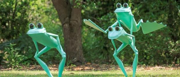 the Dawes Arobretum Frogman sculpture