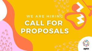 yellow graphic with words Call for Proposals