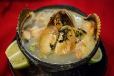 La Playa also serves up Paila marina, a traditional Chilean seafood soup served in a earthenware bowl with claim, mussels, eel, shrimp, paprika, parsley and lime.