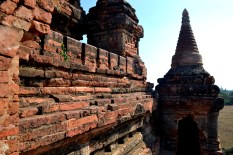 Wandering around the ancient temples in Bagan, one is almost nervous of touching the walls.