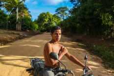 Motorcycles are very common in Bahia. Children all the way up to the elderly use them to get around.