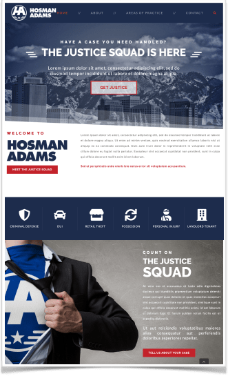 Hosman Adams Web page