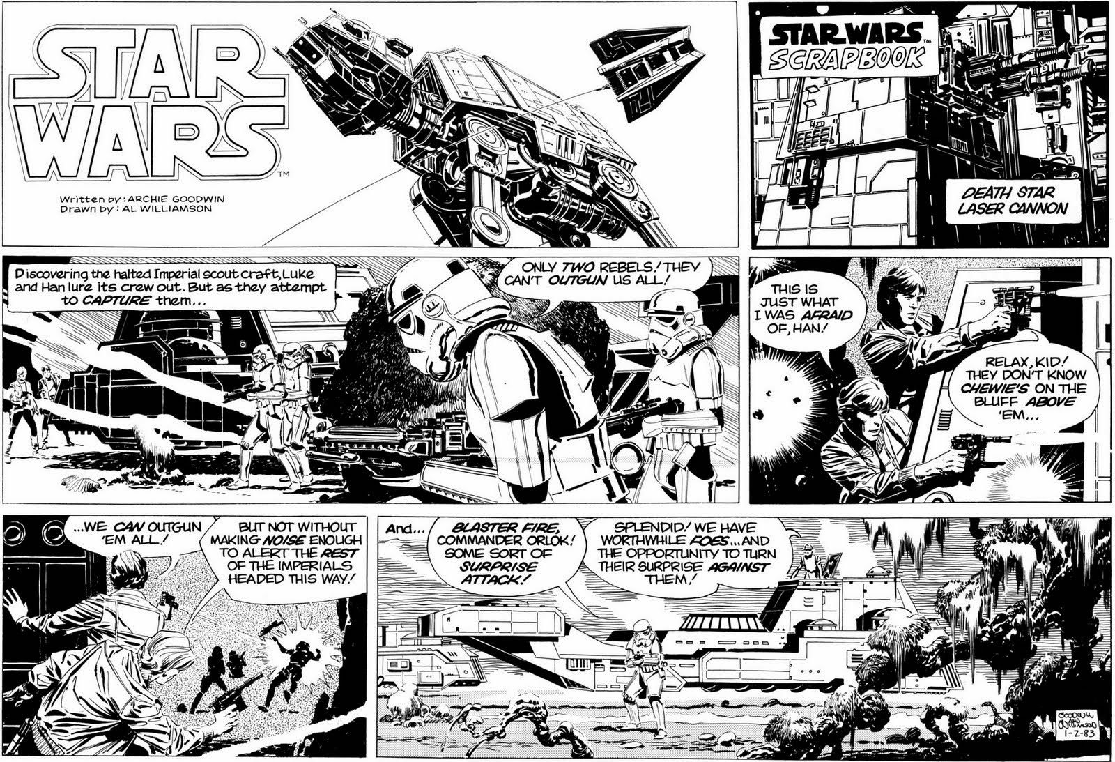 Laser canon! The \'Star Wars\' newpaper comics » We Are Cult
