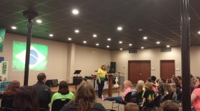 International missionary speaking about Brazil