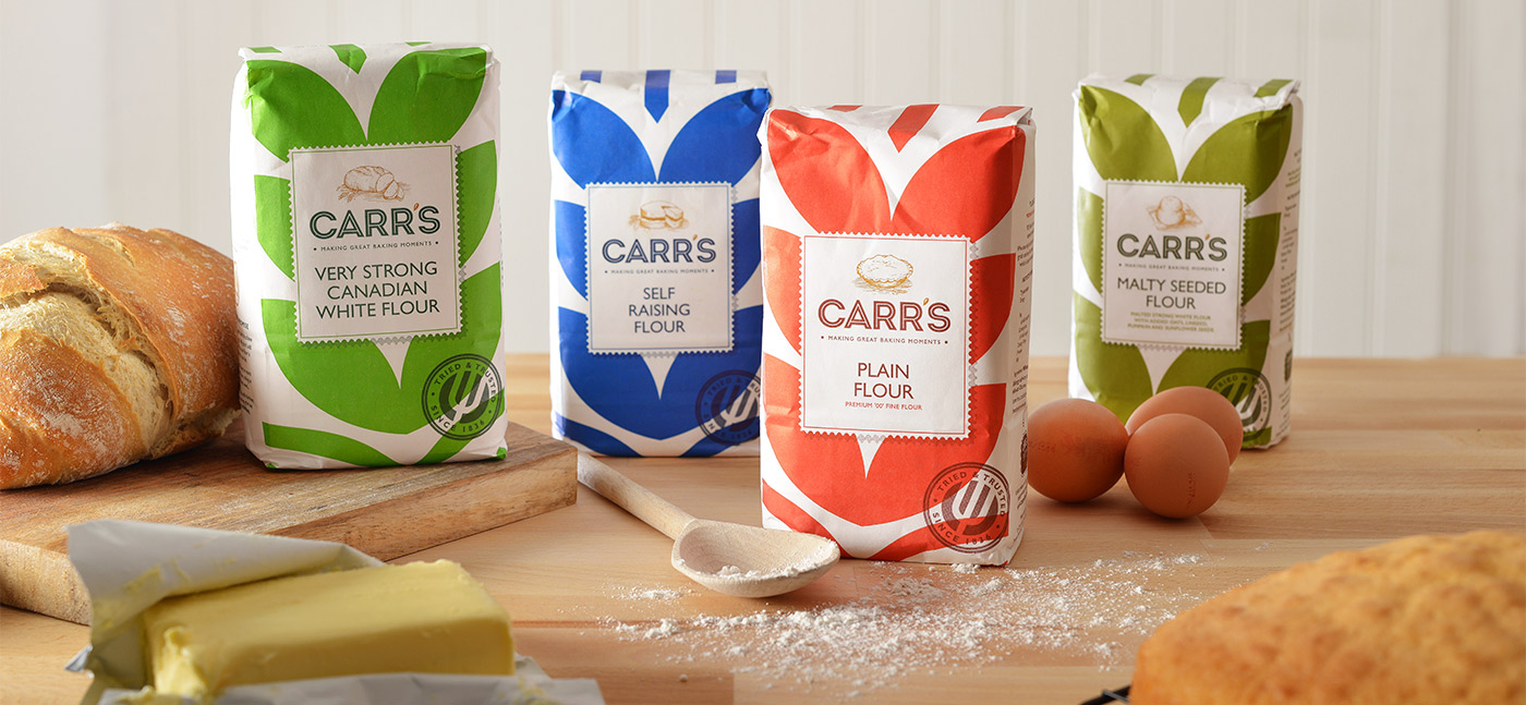 Packaging design and food photography for Carr's Flour