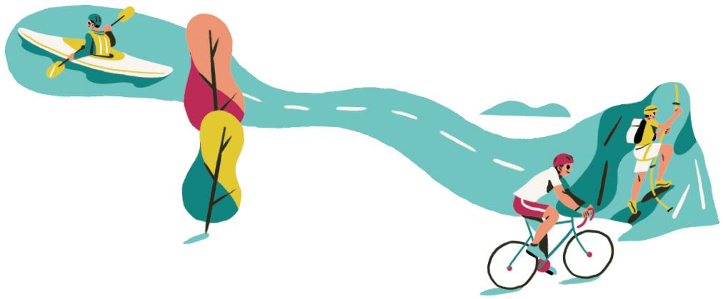 Illustration design for tourism