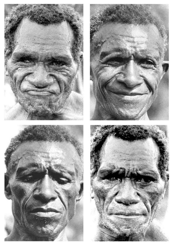 Expresiones de un hombre de una tribu.