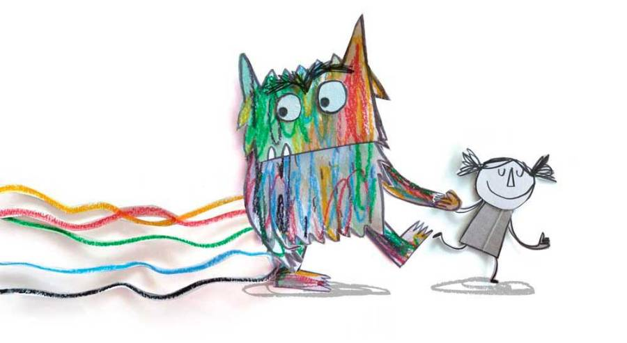 Inteligencia emocional en esgrima - monstruo de colores y su amiga