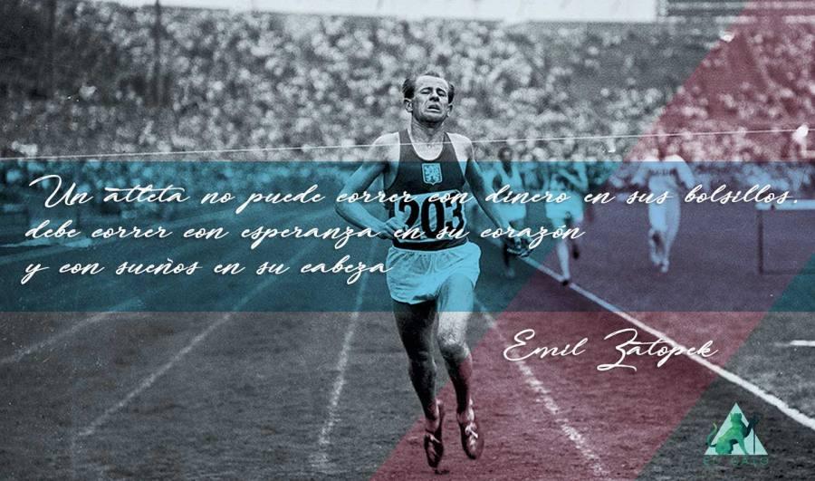 Frase de motivación de Emil Zatopek