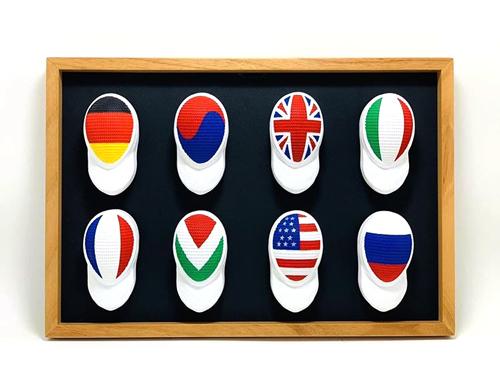 Caretas de esgrima de distintos países