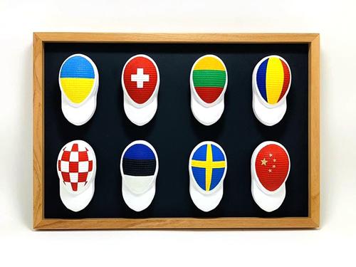 Caretas de esgrima de distintos paises