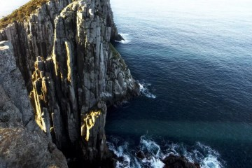 Lachy Firmstone Cape Hauy Dolerite Cliffs, ocean, sea waves, rocks