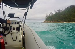 How To Make The Most Of A Cyclone Warning In The Whitsundays, Solaye Snider, boat, controls, console, onboard, RIB