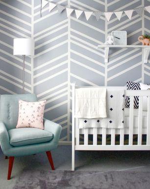 gray chevron nursery