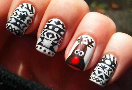 Afbeeldingsresultaat voor kerst nail art