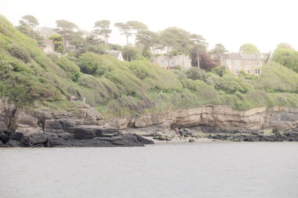 The scattering begins near to the firing site at Ladye Bay, Clevedon
