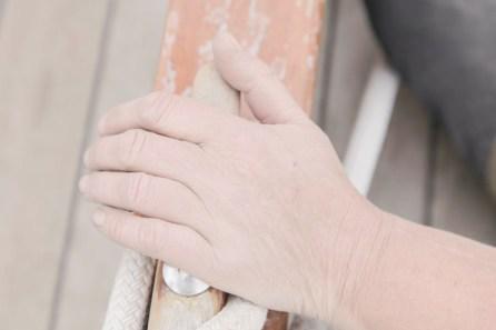 Liz's hand