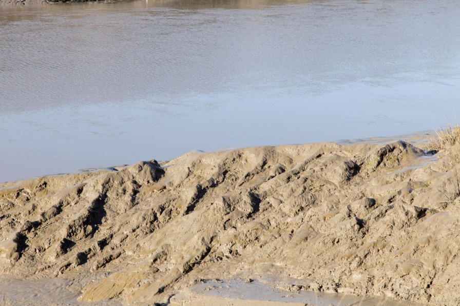 Mudbanks at Shirehampton, Bristol, where the mud was dug