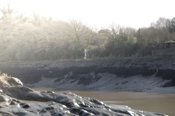 Mudbanks at Shirehampton, Bristol, where the mud was dug