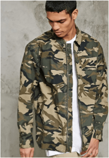Zipped Camo Jacket Forever 21 - £19.00