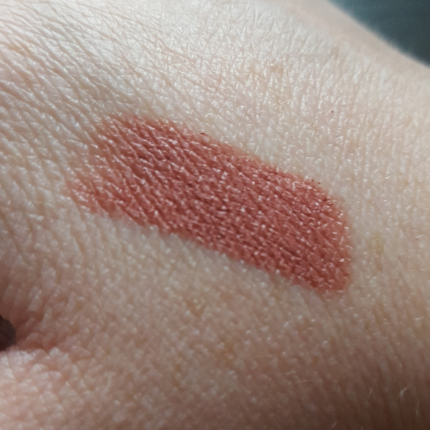 Swatch of Charlotte Tilbury Pillow Talk Lipstick