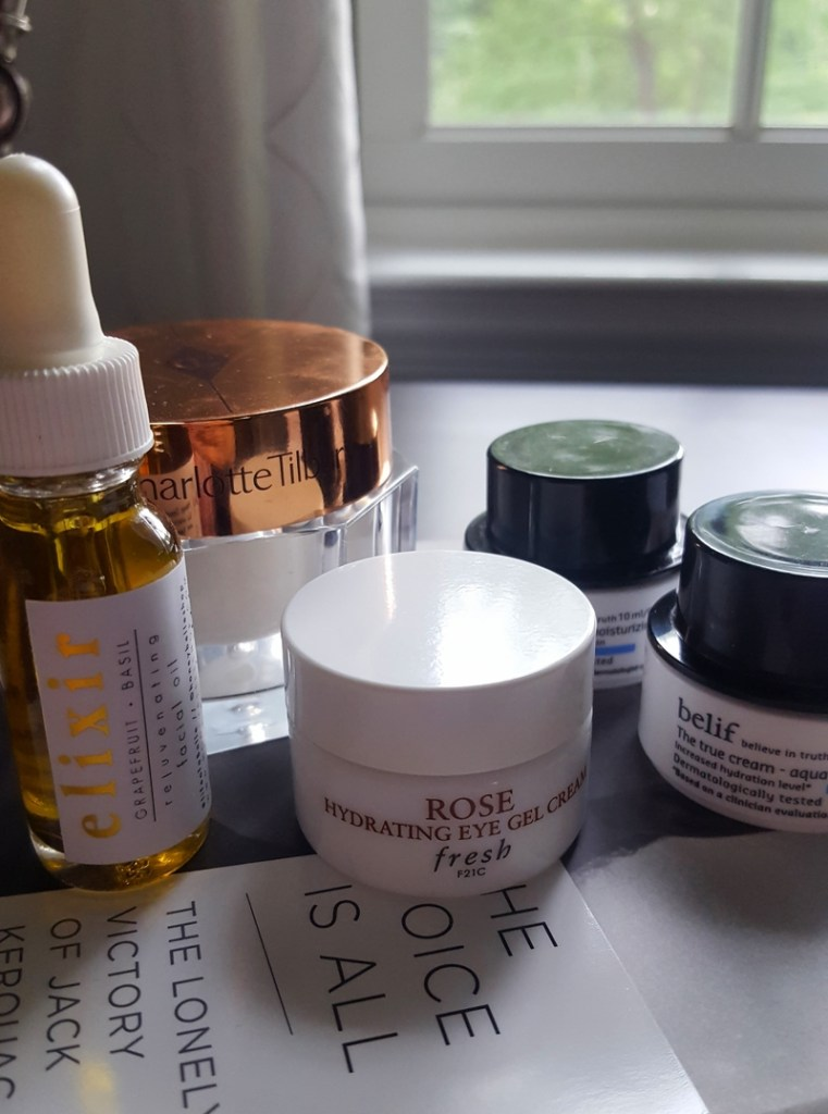 Skincare overlay featuring Honey Belle, Charlotte Tilbury, Fresh & Belif