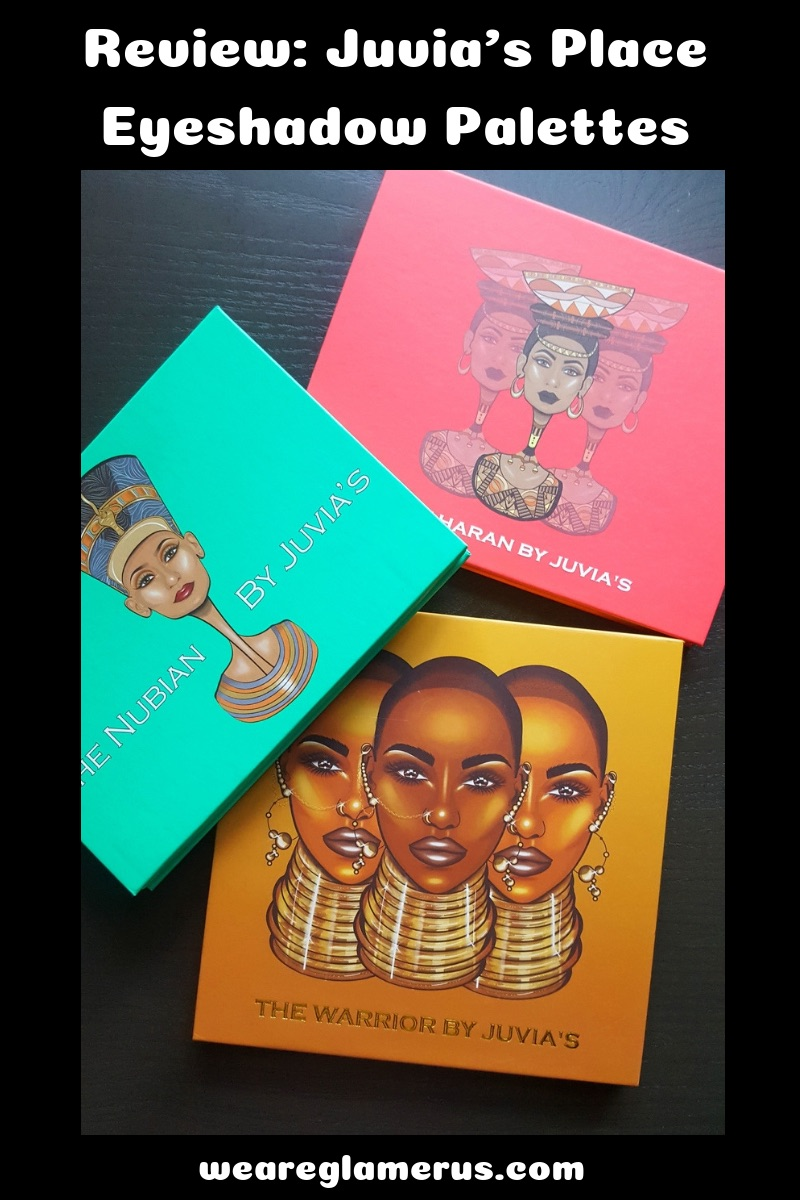 Check out my review on The Nubian, The Saharan & The Warrior Palettes from Juvia's Place!
