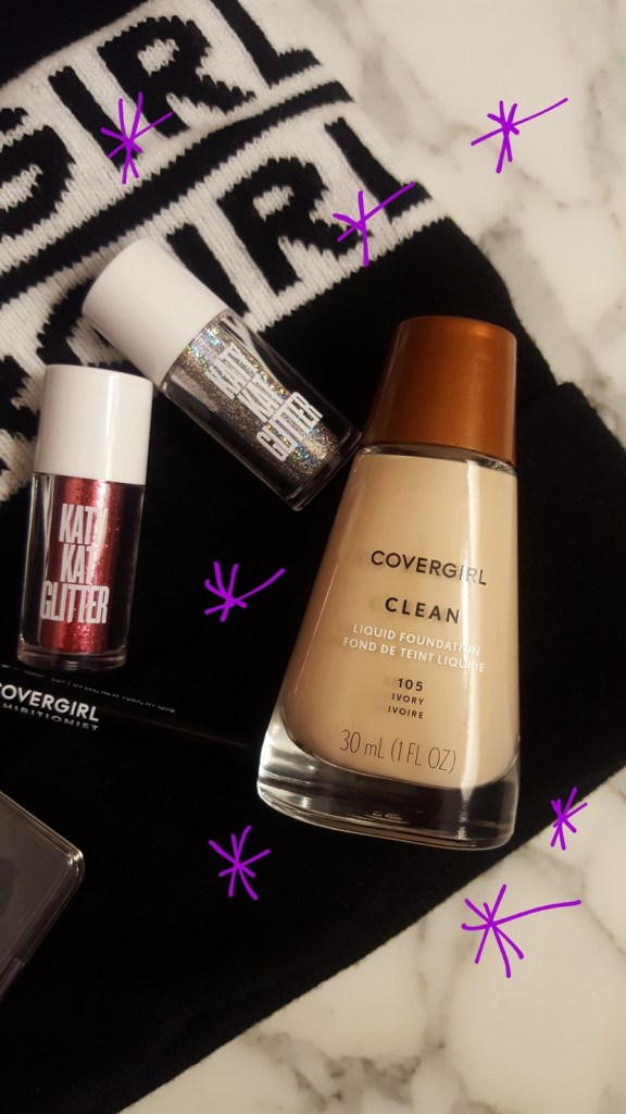 CoverGirl Clean Liquid Foundation, & Katy Kat glitters