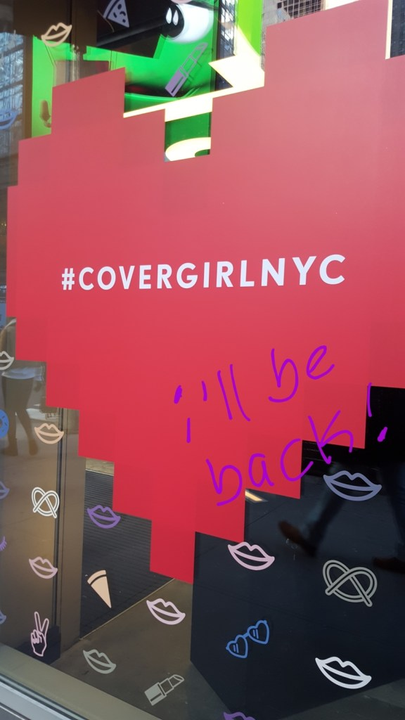 Exterior of the CoverGirl NYC store