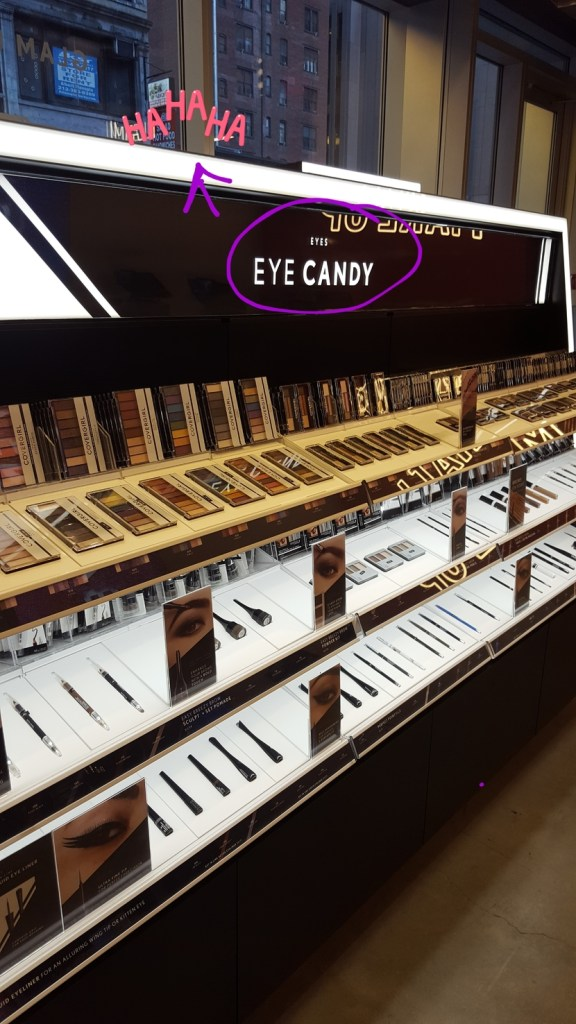 CoverGirl eye products in NYC store