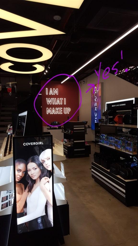 Interior of CoverGirl store