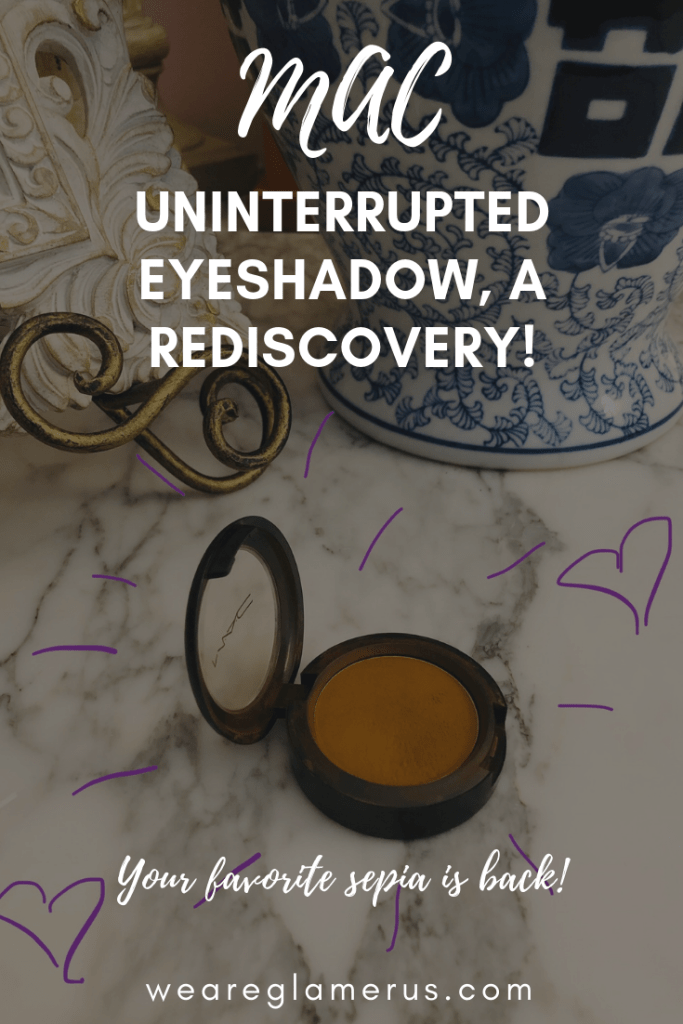 "Who doesn't love a good ""shop your stash"" moment? I recently rediscovered MAC Uninterrupted eyeshadow and I'm obsessed again!"