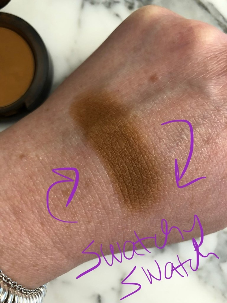 Swatch of MAC Uninterrupted eyeshadow